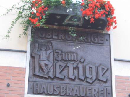 Schild - Restaurant Uerige