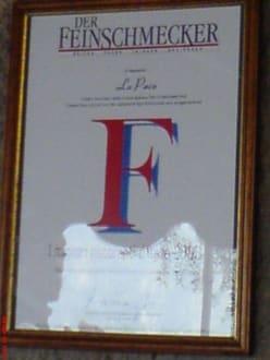 Urkunde Feinschmecker - La Pace
