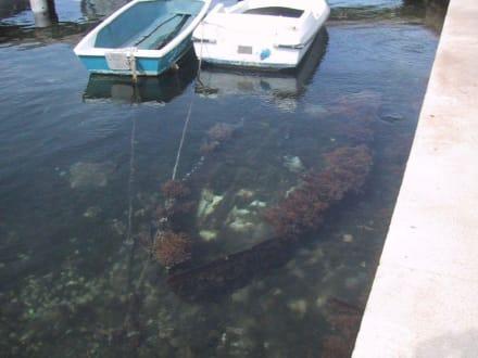 Versunkenes Schatzschiff im Hafen von Vodice? - Hafen Vodice