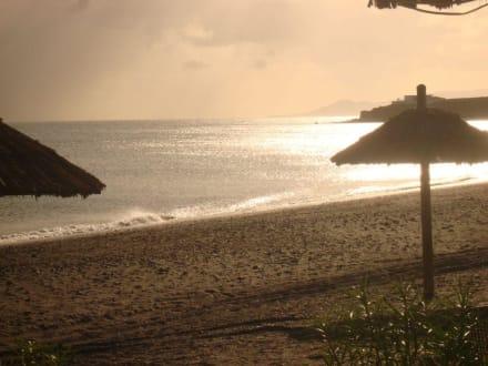 Sonnenuntergang in Tarajalejo - Beach Bar Chiringuito