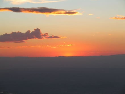 Sonnenuntergang über ABQ - Blick vom Sandia - Sandia Peak