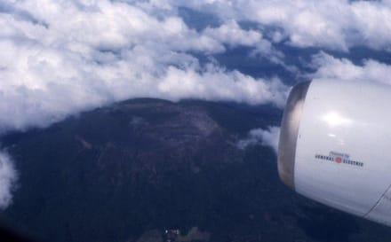 Der Vulkan Momotomba aus der Luft - Vulkan Momotombo