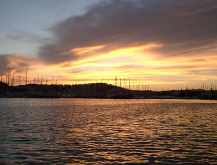 Sonnenuntergang - Yachthafen Bodrum