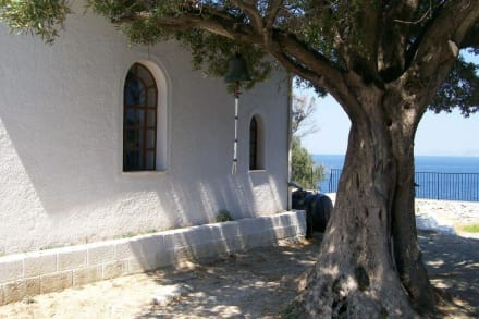 Die Kirche mit Ölbaum - Kirche Àgios Ioánnis sto Kastrí (Mamma Mia! Kirche)