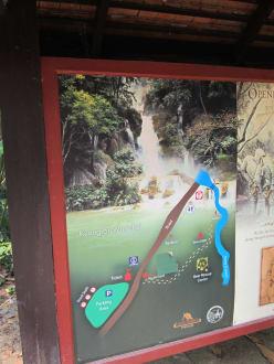 Lageplan - Khouang Sy Wasserfälle