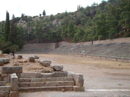 Das antike Stadion - Tempelanlage des Orakels von Delphi