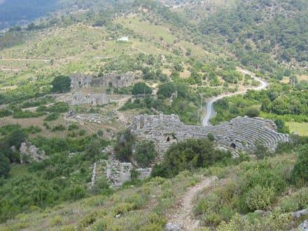 Teile der Ausgrabungen von Kaunos - Ruinen Kaunos