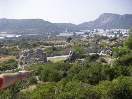 Blick auf die Akropolis von oben - Ausflug nach Xanthos