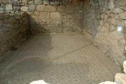 das erhaltene Fußboden Mosaik in Arykanda - Arykanda
