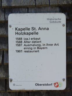 Religious sites (churches, temples, etc.) - Kapelle St. Anna