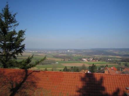 Die Aussicht vom Turm aus. - Feste Otzberg