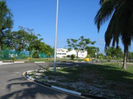 Flughafeneinfahrt - Flughafen Gan (GAN)