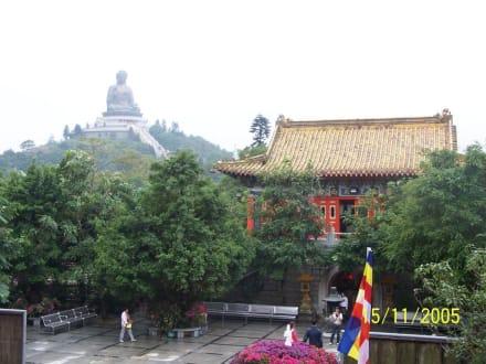Lantau sitzender Buddha und Po-Lin Kloster - Tian Tan Buddha -  Größter sitzender Buddha