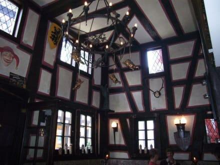 Innenaufnahme Restaurant Zum Burgkeller - Restaurant Zum Burgkeller