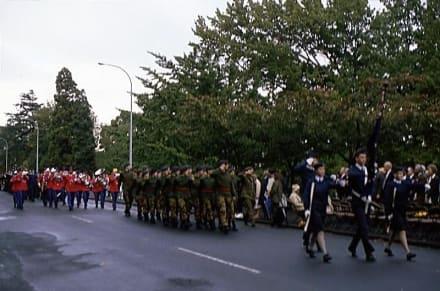 Anmarsch zur Feier des ANZAC-Day am 25.4. - ANZAC-Day