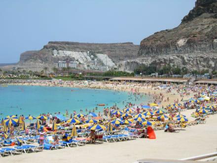 Weißer Strand, türkises Wasser.. - Strand Playa de Amadores