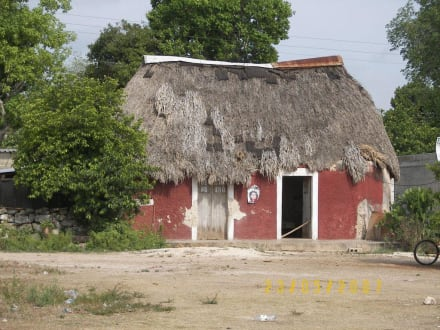 Hütte für die Angestellten auf der Hacienda - Sisal Hacienda Yaxcopoil