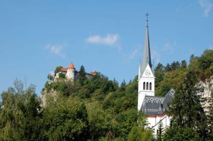 Burg und Kirche in Bled - Burg von Bled