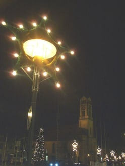 Der Stadtplatz in Festbeleuchtung - Plattling