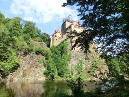 Blick zur Burg - Burg Kriebstein
