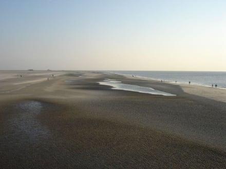 2 km Breiter Strand - 12 km lang - Strand St. Peter Ording