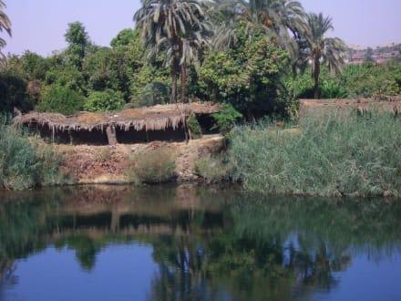 einfache Hütte am Nil - Nil