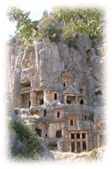 Myra, Türkei - Felsengräber von Myra