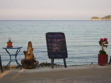 Ausblick aus der Taverne - Golden Beach