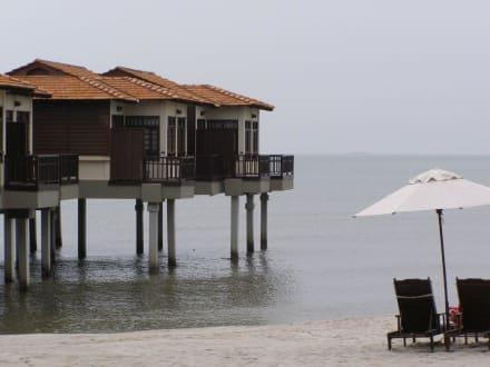 Bungalows auf Pfälen im Meer - Avillion Village Resort