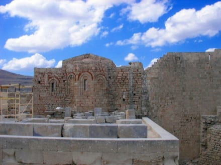 In der Festung Lindos - Akropolis von Lindos