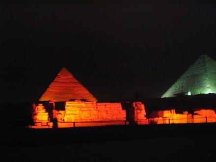 Sound and Light - Lasershow bei den Pyramiden