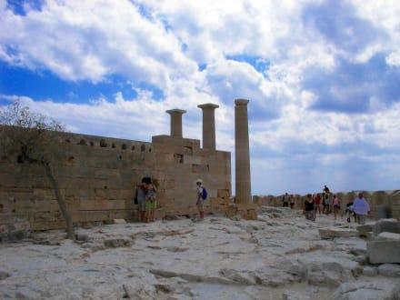 In der Festung von Lindos - Akropolis von Lindos