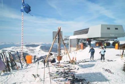 Der Liftausstieg an der Hütte - Williamshütte