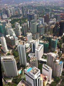 Blick vom Fernsehturm  - Menara Kuala Lumpur (Fernsehturm)