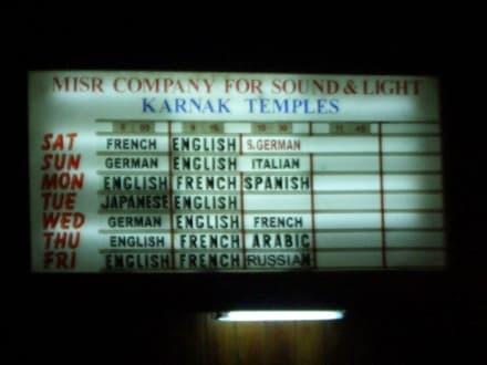 Show in allen Sprachen besuchbar - Amonstempel Karnak