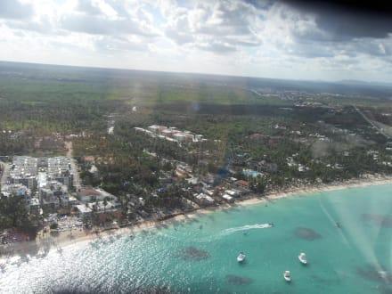 Tolle Sicht von oben - Helikopter-Rundflug Punta Cana
