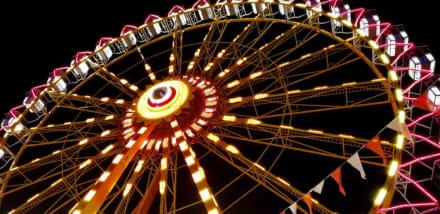 Das Riesenrad bei Nacht - Frühlingsfest Nürnberg