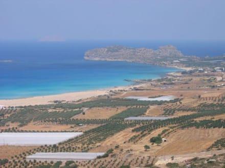 Die schöne Bucht von Falassarna - Strand Falassarna