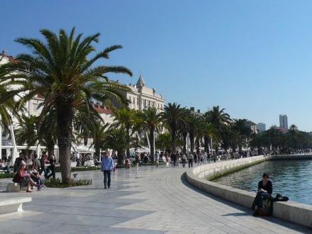Landgang in Split - Uferpromenade Split
