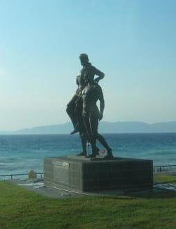 Diagoras auf den Schultern seiner Söhne - Diagoras-Denkmal