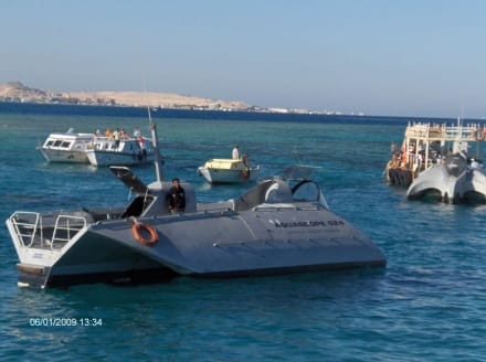 Glasbodenschiff Aquascop - Glasbodenboot Tour Hurghada