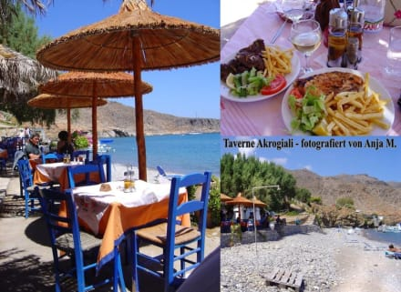 Taverne Akrogialos in Kato Zakros - Kretas äußerster Osten