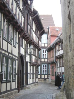 Ein Straßenzug in der Altstadt - Altstadt Quedlinburg