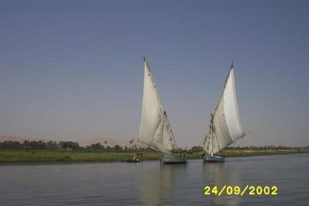 Felukken auf dem Nil - Felukenfahrt auf dem Nil