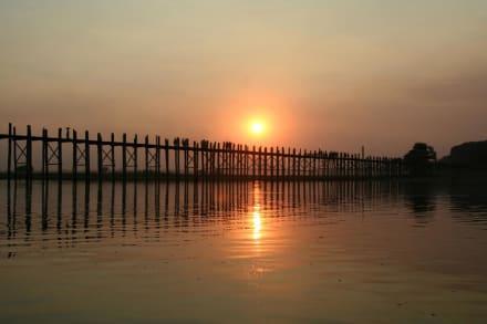 Sonnenuntergang an der U-Bein Brücke - U-Bein Brücke