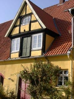 Giebel der Alten Rentei - Café Alte Rentei bei Schloß Hünnefeld