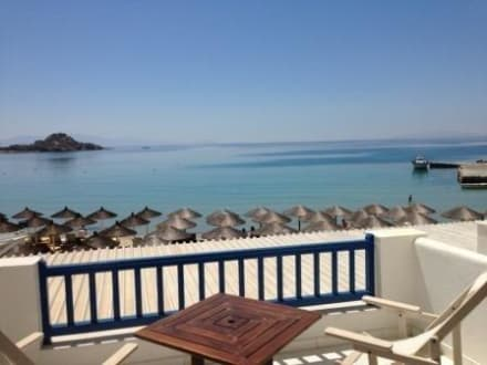 Sea view balkony -