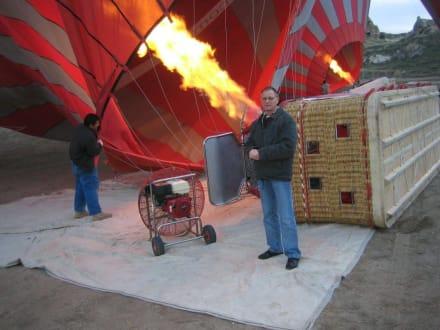 Kurz vor dem Start - Ballonfahrt Kappadokien