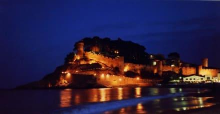 Tossa de Mar bei Nacht - Burg Tossa de Mar