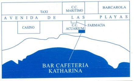 Lage - Bar Cafeteria Katharina